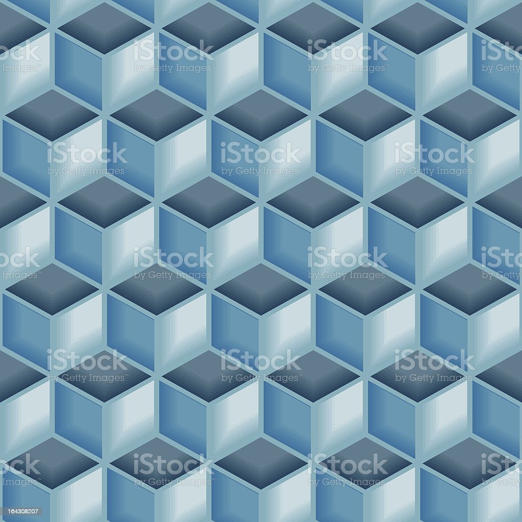 Seamless blue tile pattern royalty-free stock vector art
