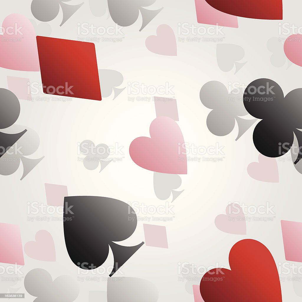 Seamless card suit background royalty-free stock vector art