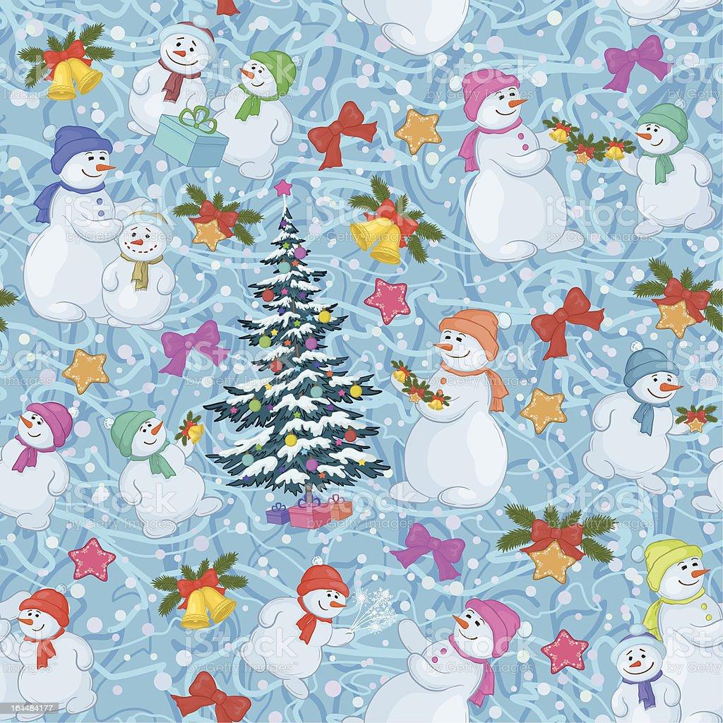 Seamless Christmas background. Vector royalty-free stock vector art