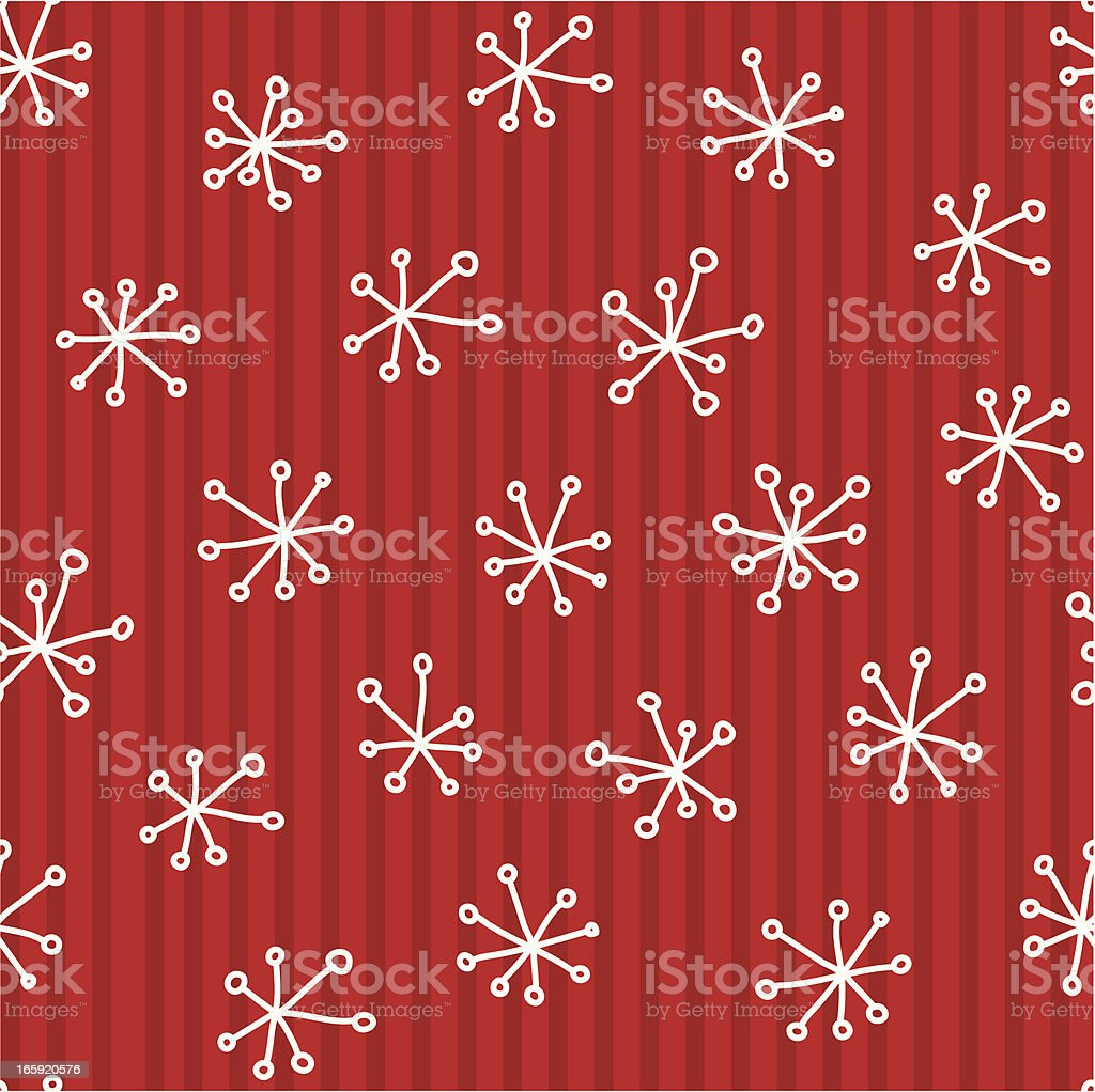Seamless Christmas snowflake background royalty-free stock vector art