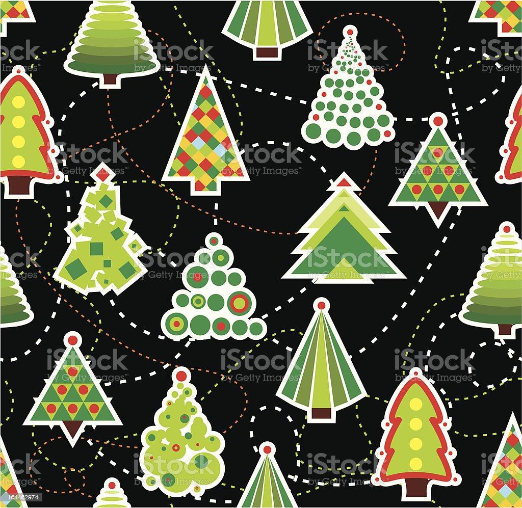 Seamless Christmas Tree Background royalty-free stock vector art