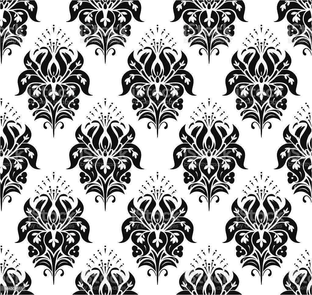 Seamless Classic Wallpaper royalty-free stock vector art