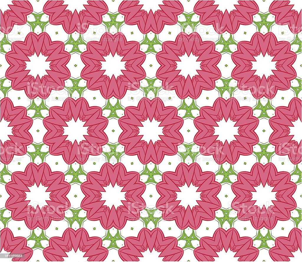 Seamless colorful floral pattern background vector art illustration