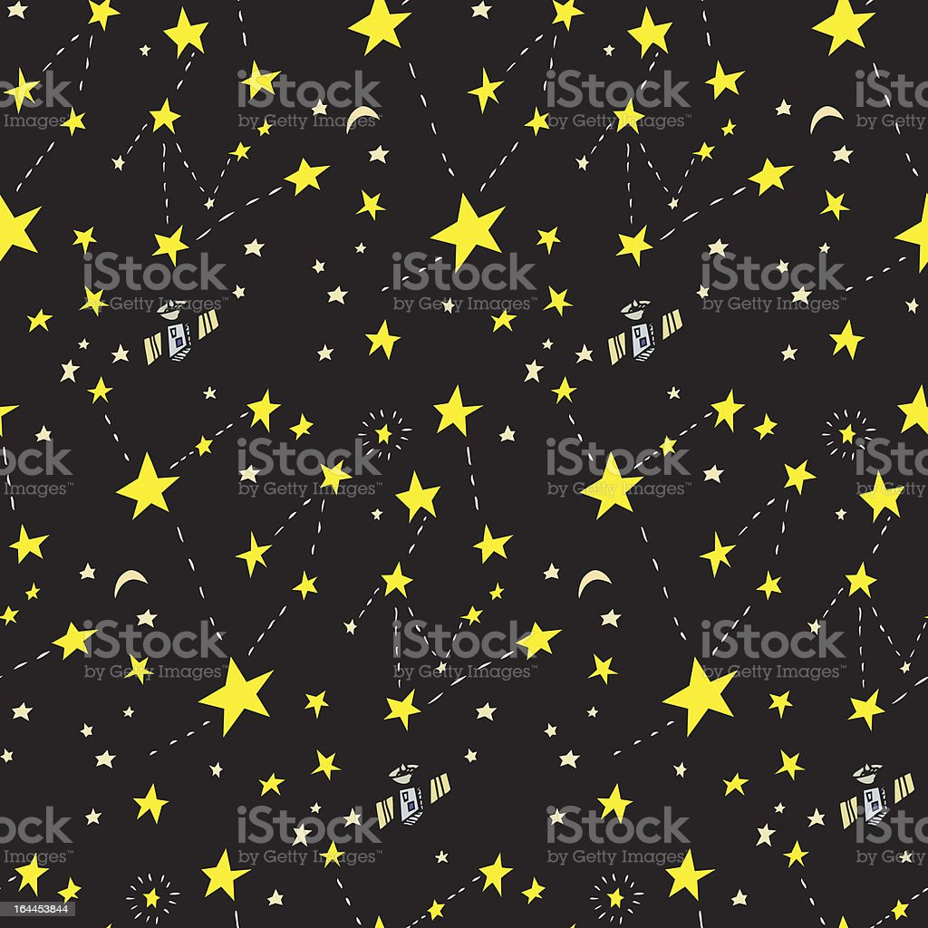 Seamless Constellation Background royalty-free stock vector art