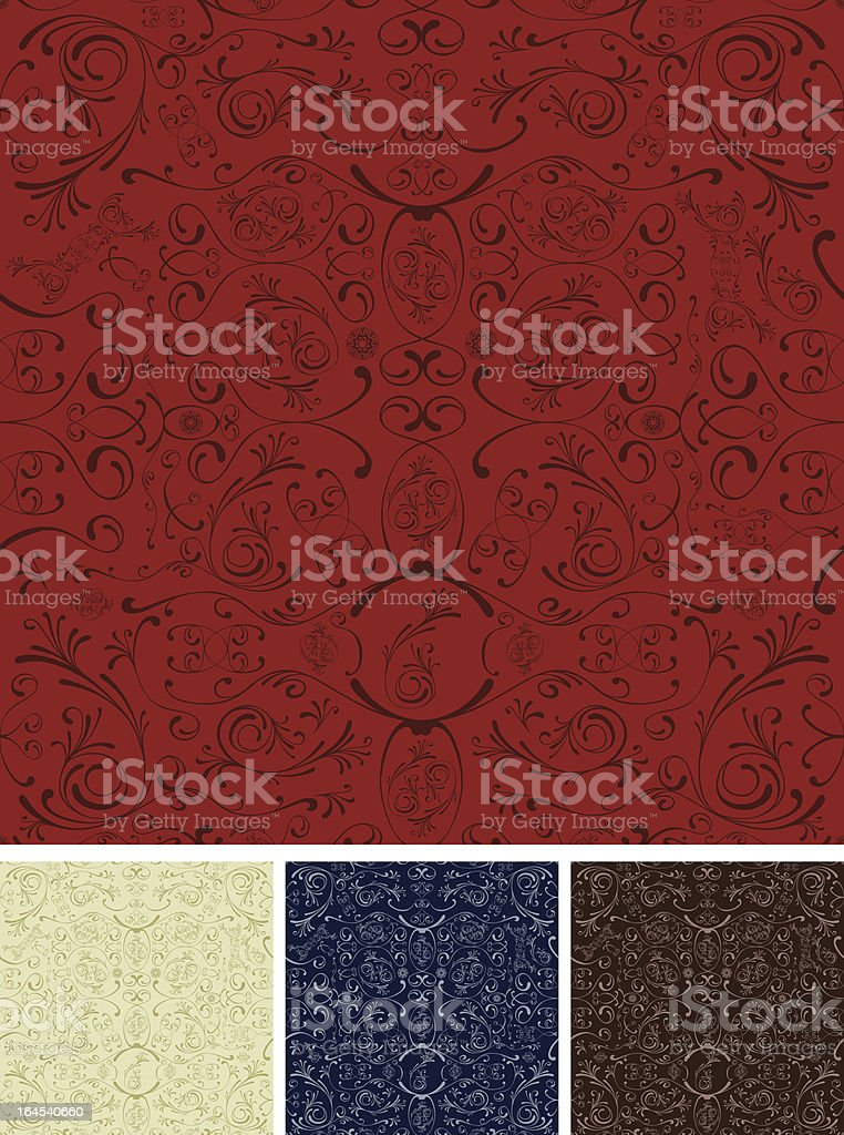 Seamless Curly Background royalty-free stock vector art