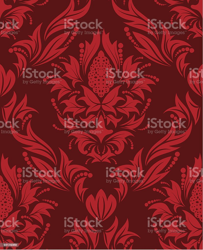 seamless damask background royalty-free stock vector art