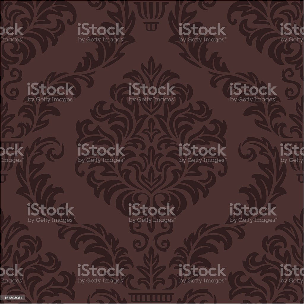 Seamless Damask Web background vector art illustration