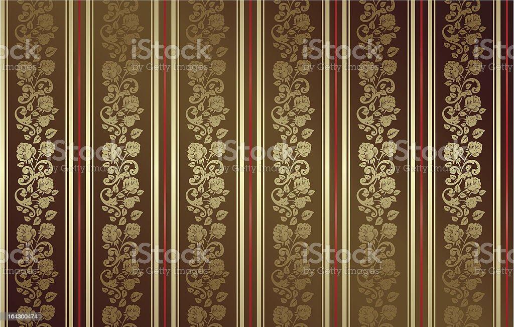 seamless dark gold rose pattern royalty-free stock vector art