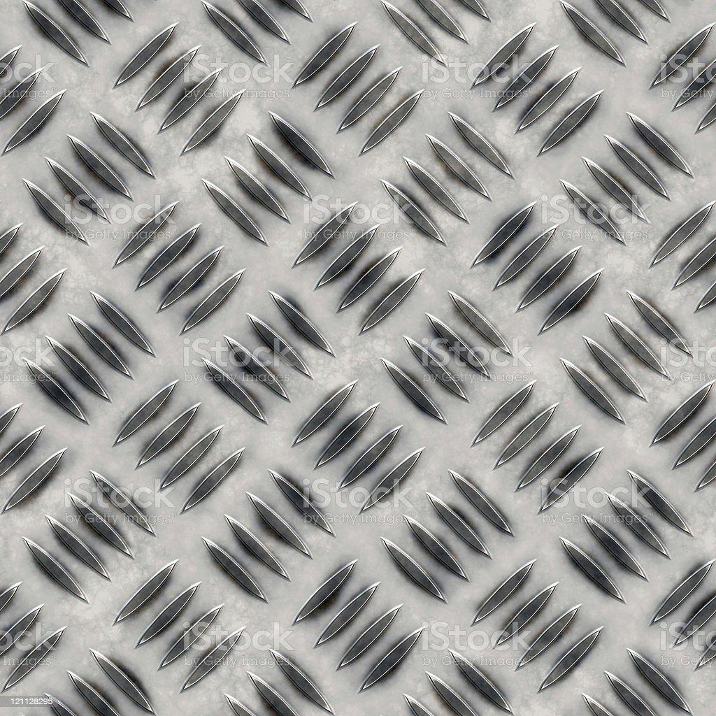 Seamless diamond plate texture royalty-free stock vector art