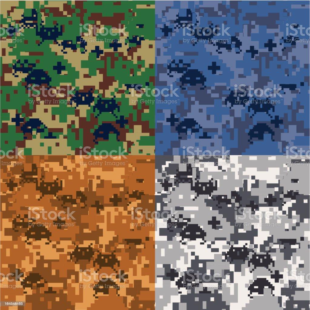Seamless Digital Camoflage royalty-free stock vector art