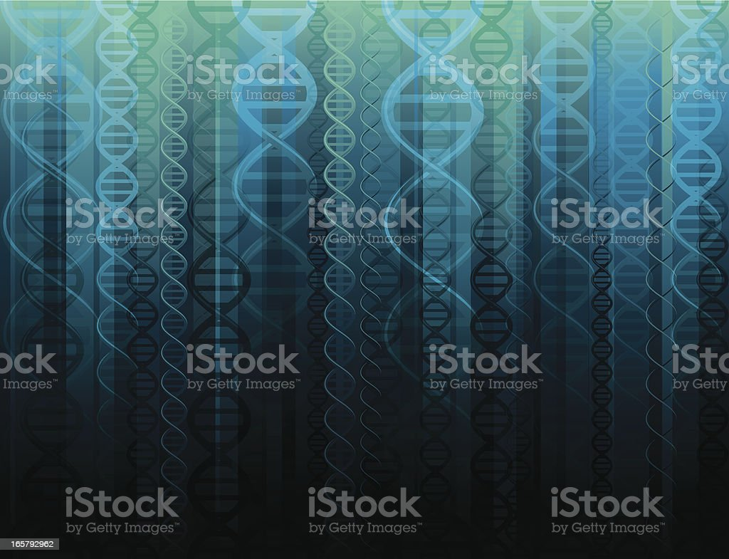 Seamless DNA background vector art illustration
