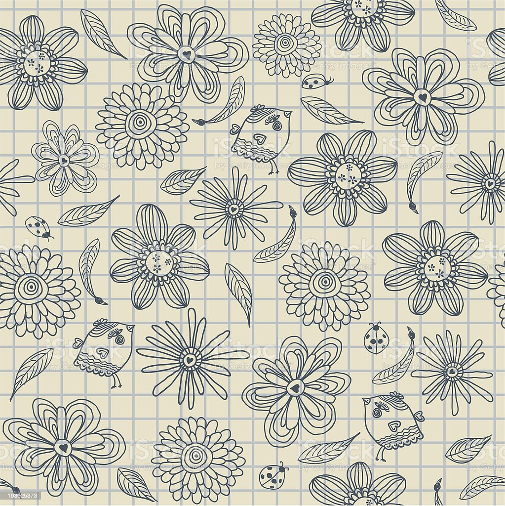 seamless doodle pattern royalty-free stock vector art