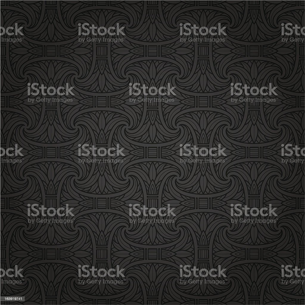 Seamless Egyptian pattern vector art illustration