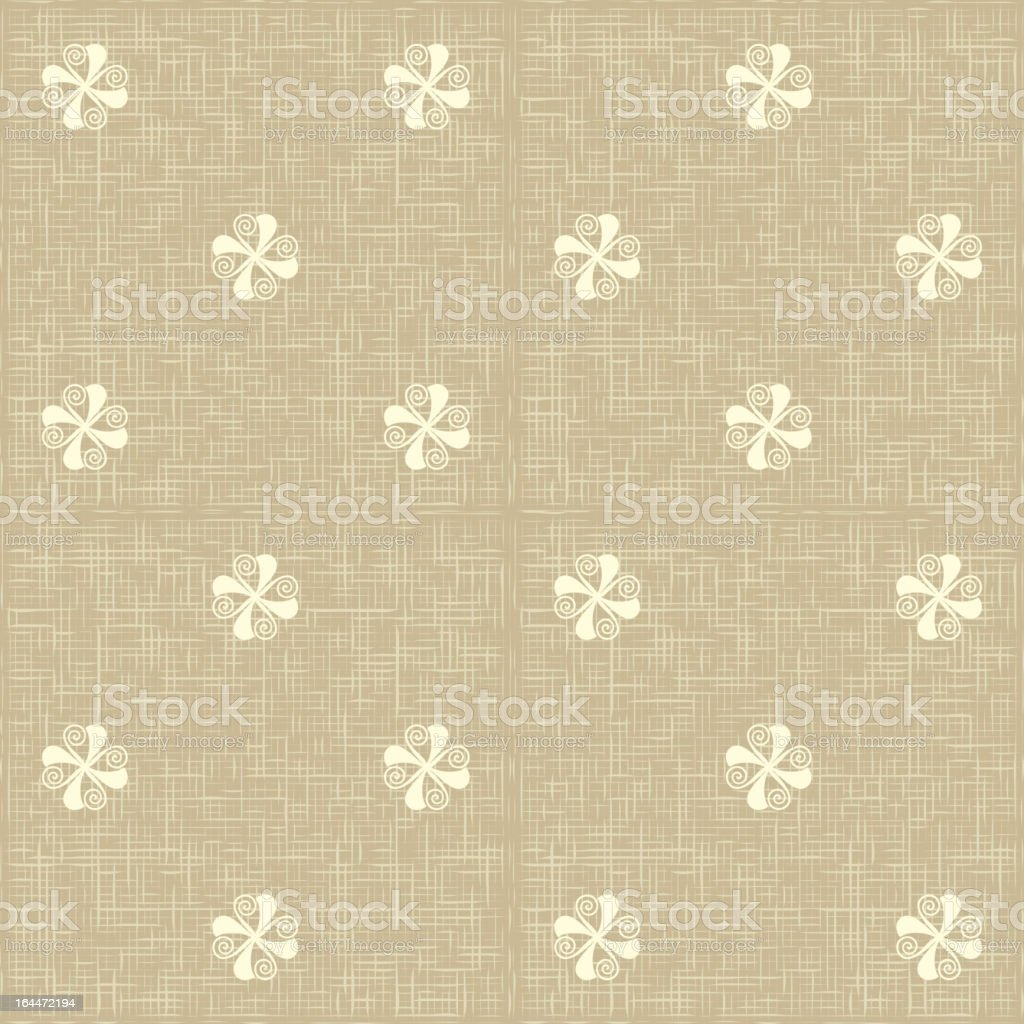 Seamless floral pattern. Flowers rustic texture. royalty-free stock vector art