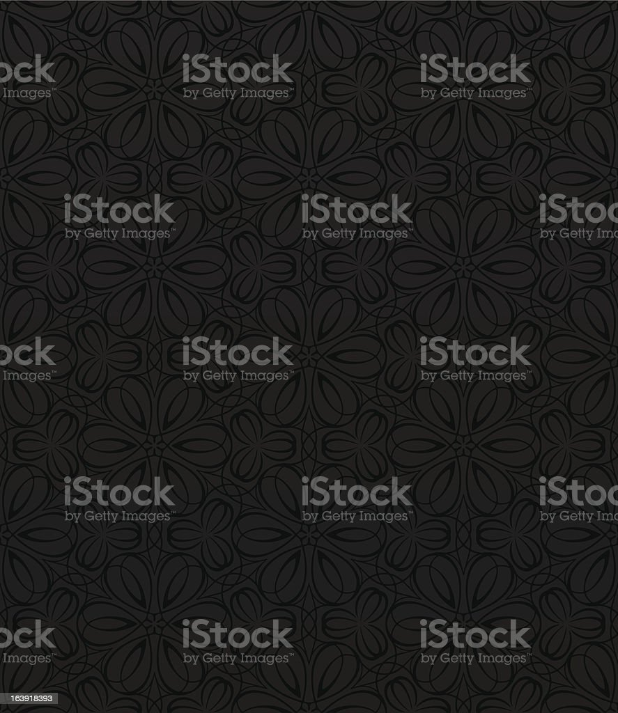 Seamless floral pattern vector art illustration