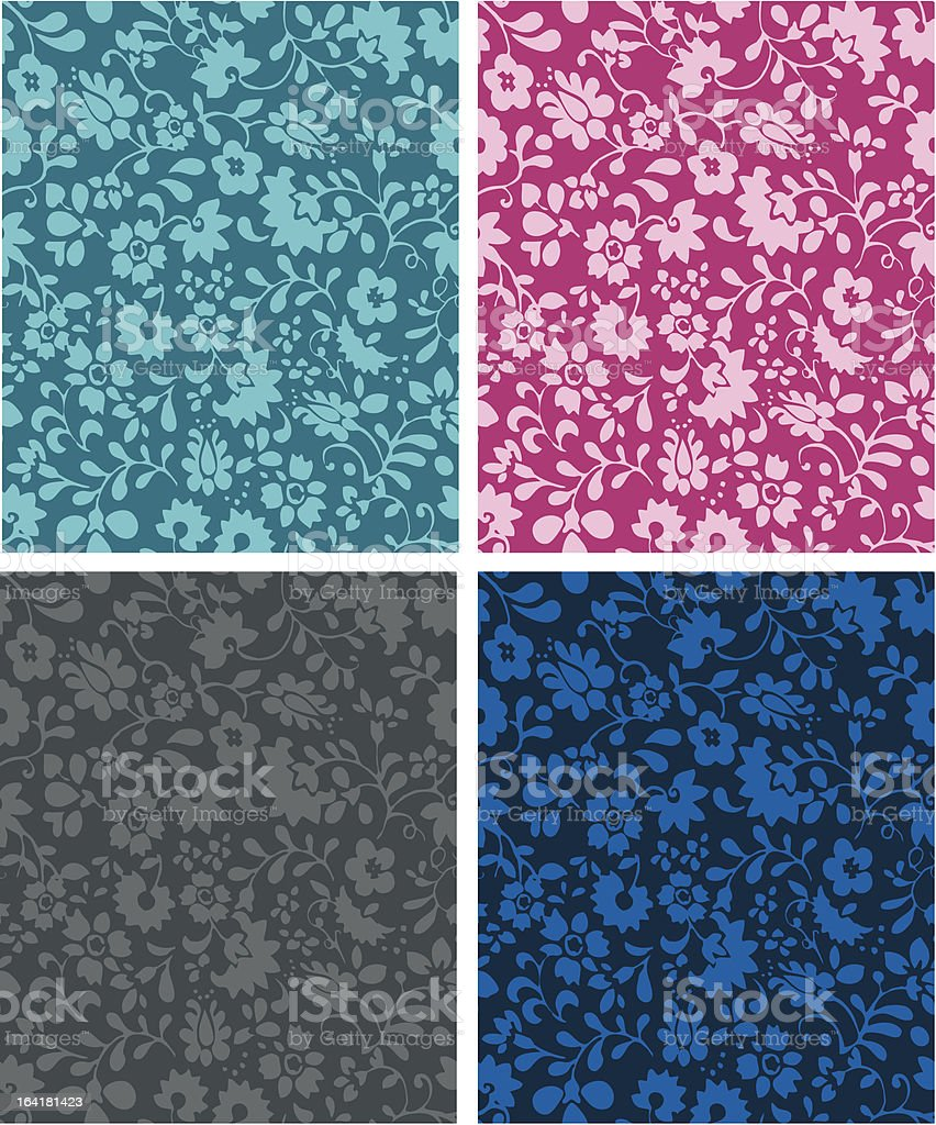 Seamless Floral / Vintage Wallpaper Pattern royalty-free stock vector art