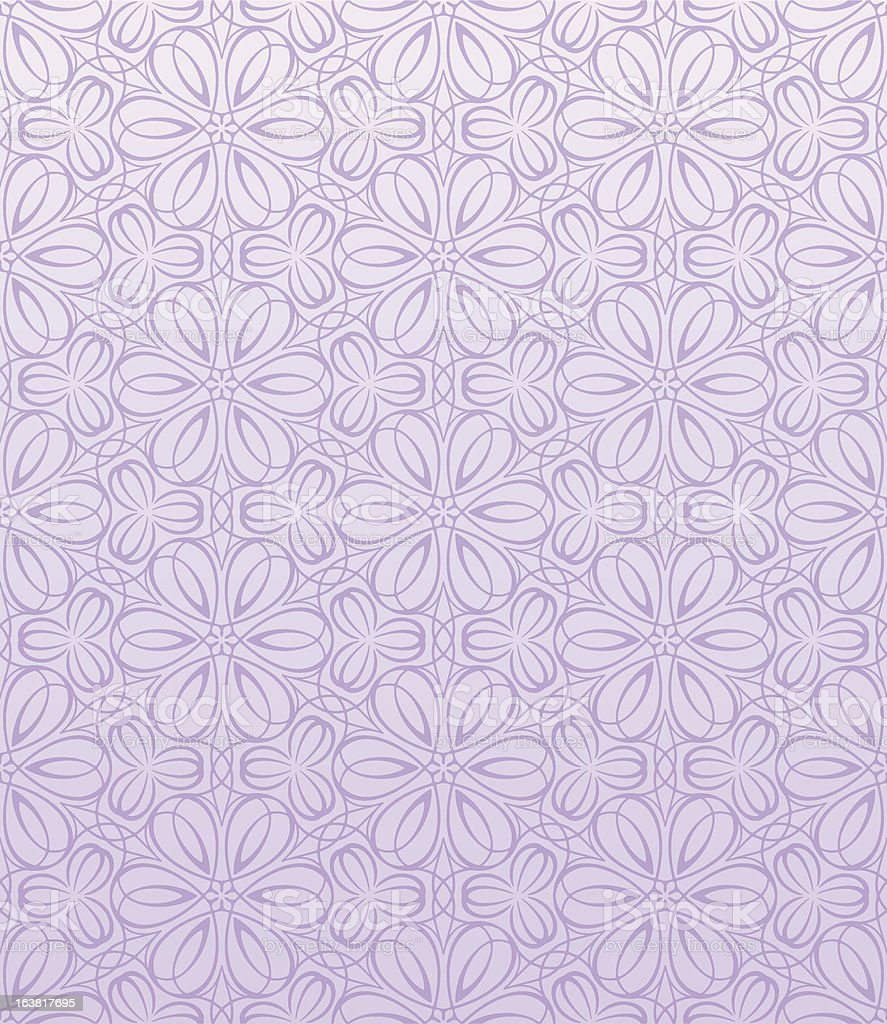Seamless Flower Pattern vector art illustration
