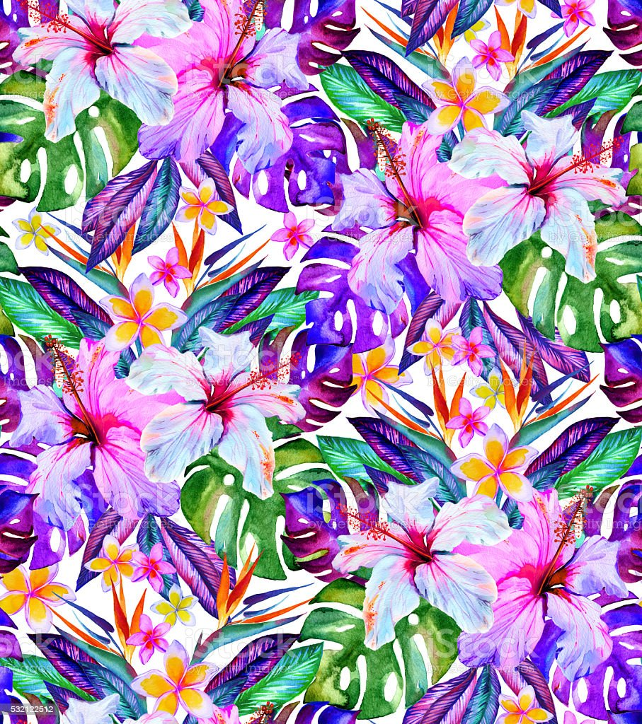 seamless flowers pattern stock photo