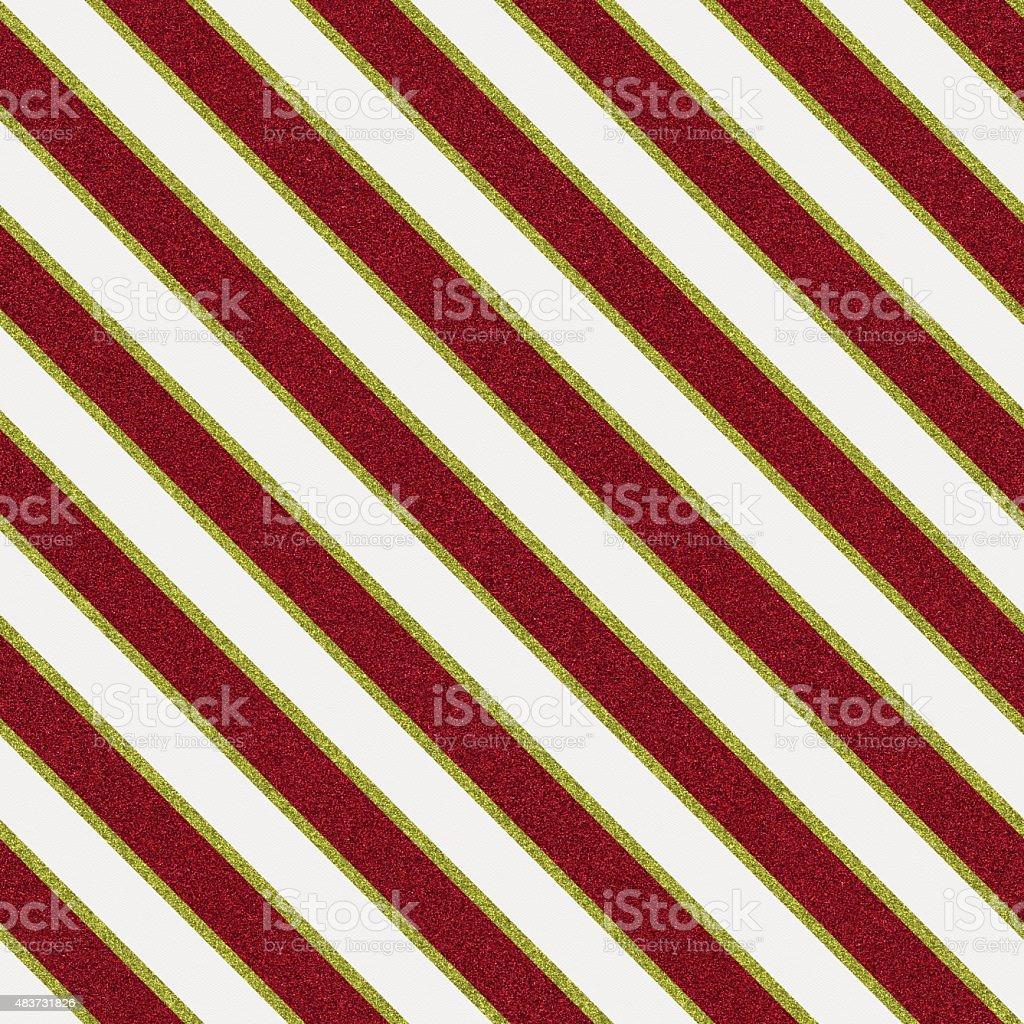 Seamless glitter stripe pattern on white textured paper vector art illustration
