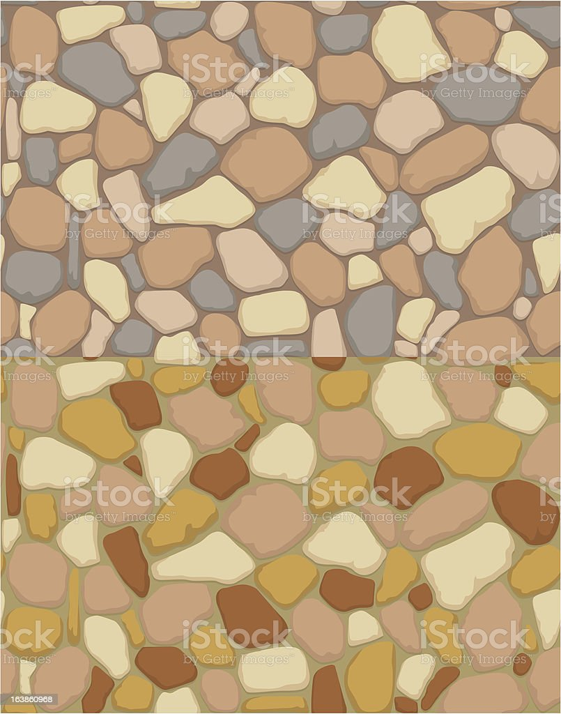 Seamless gravel texture royalty-free stock vector art