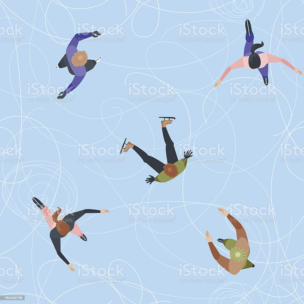 Seamless Ice rink top view vector art illustration