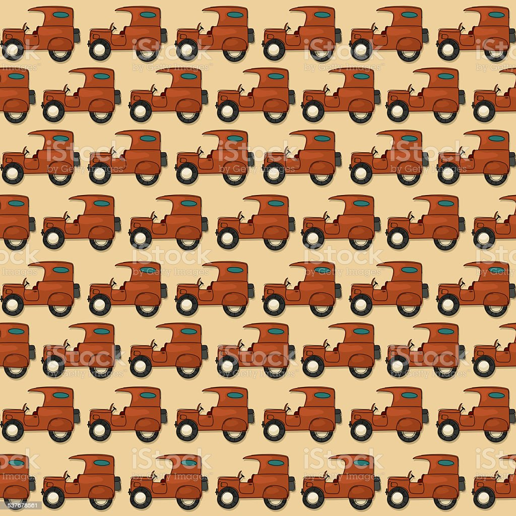 Seamless jeep pattern vector art illustration