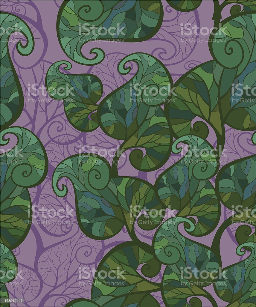 seamless leafy background vector art illustration