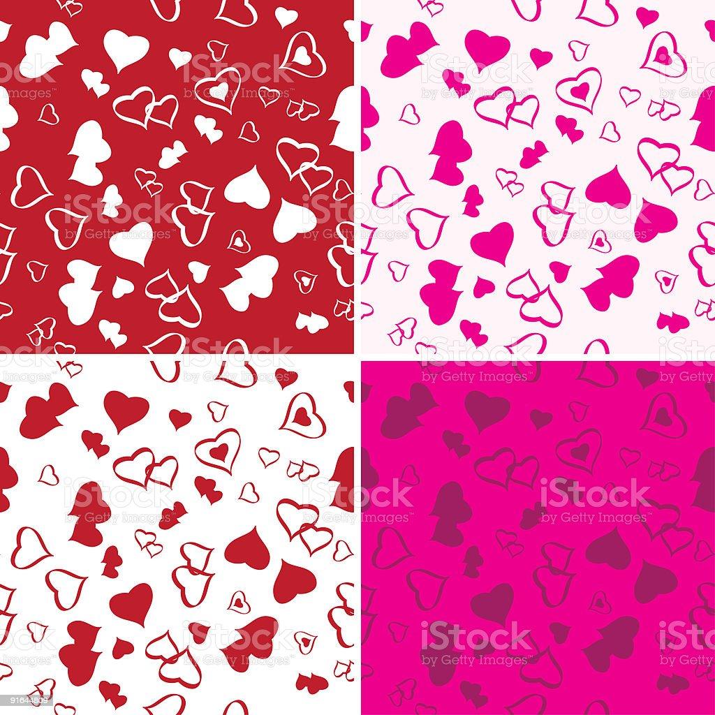 Seamless Love Background Set royalty-free stock vector art