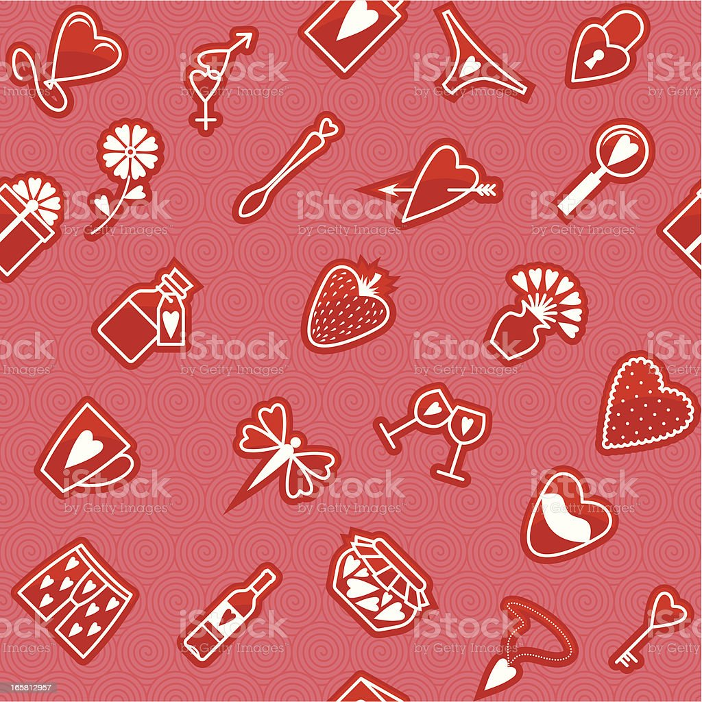 Seamless Love Pattern royalty-free stock vector art