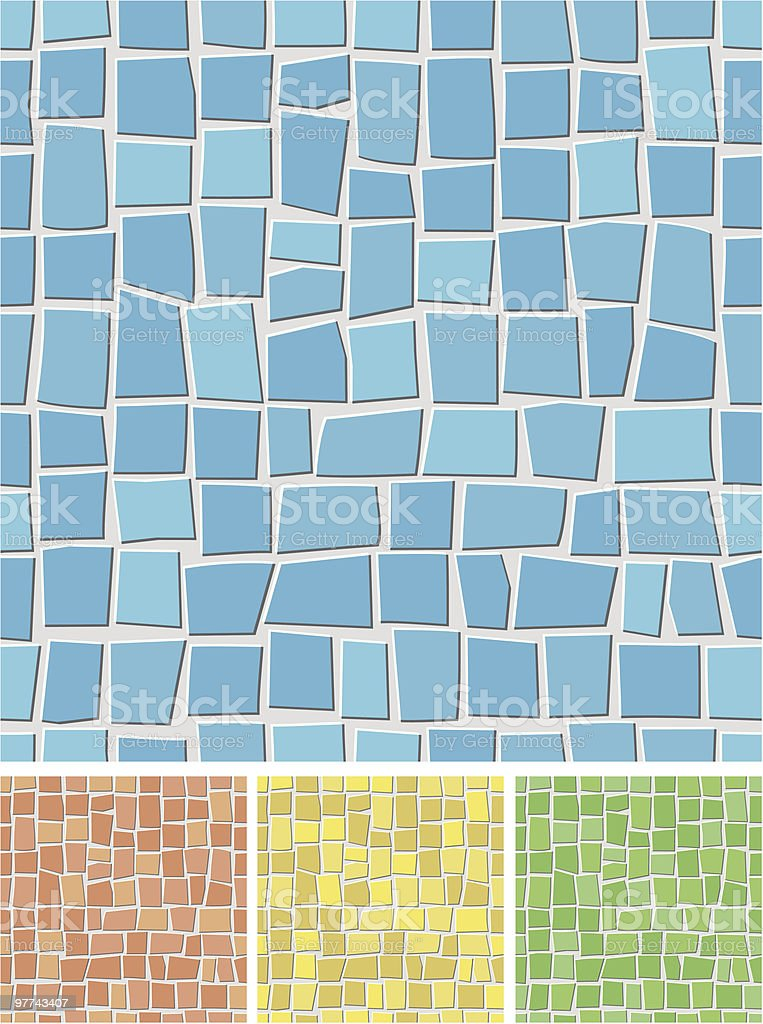 Seamless mosaic pattern. vector art illustration