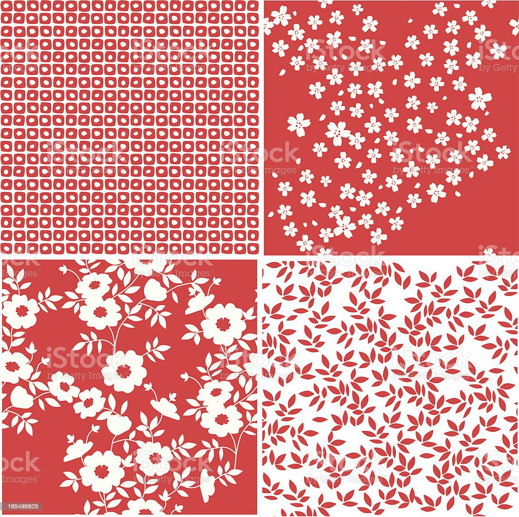 Seamless Origami Patterns royalty-free stock vector art