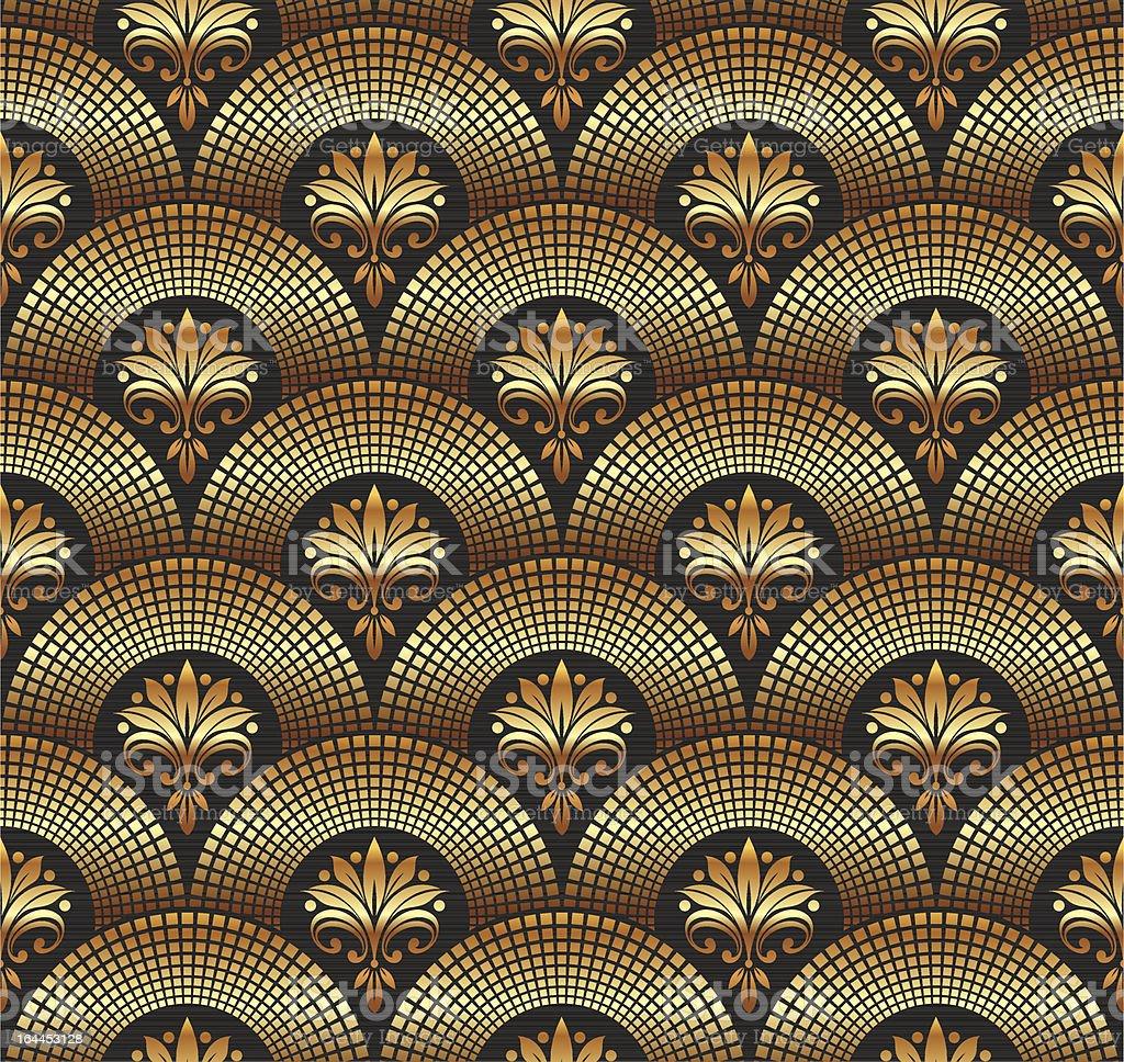 Seamless ornate golden pattern royalty-free stock vector art