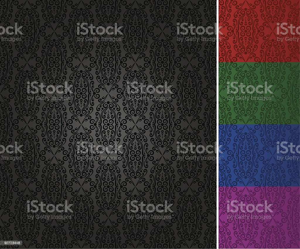 seamless ornate pattern (vector) royalty-free stock vector art