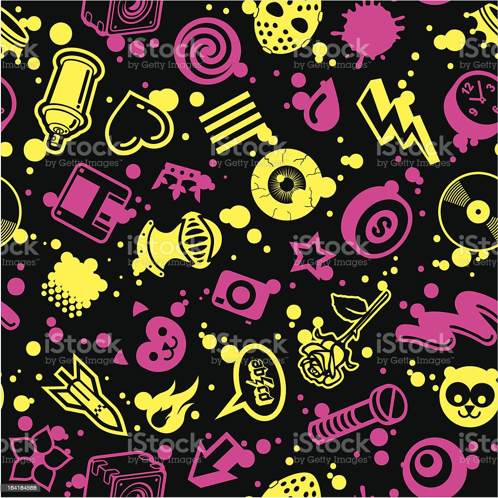 CMYK Seamless Pattern royalty-free stock vector art