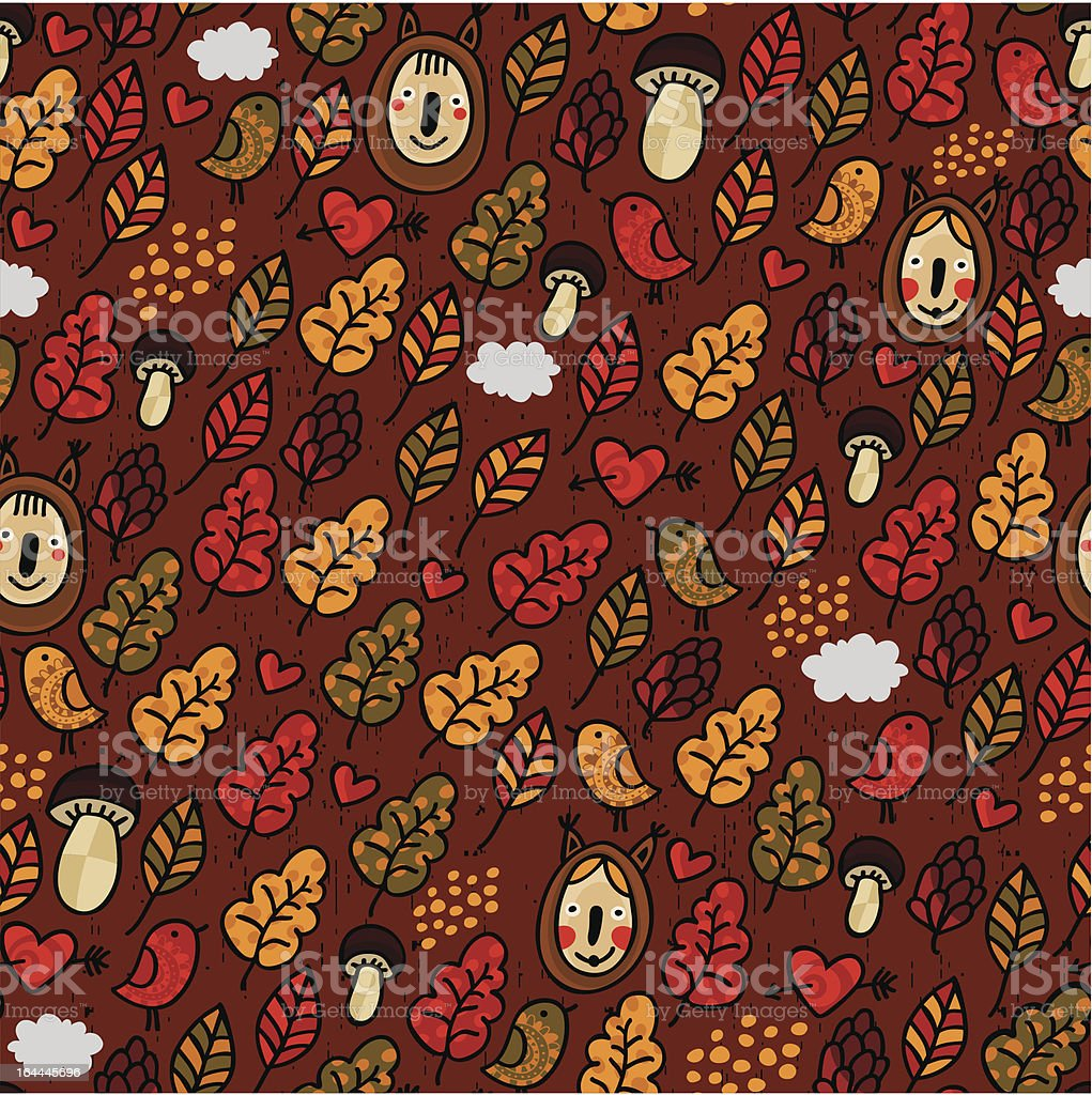 Seamless pattern in autumn style. royalty-free stock vector art