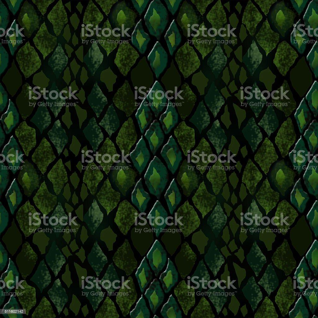 Seamless pattern of snake skin vector art illustration