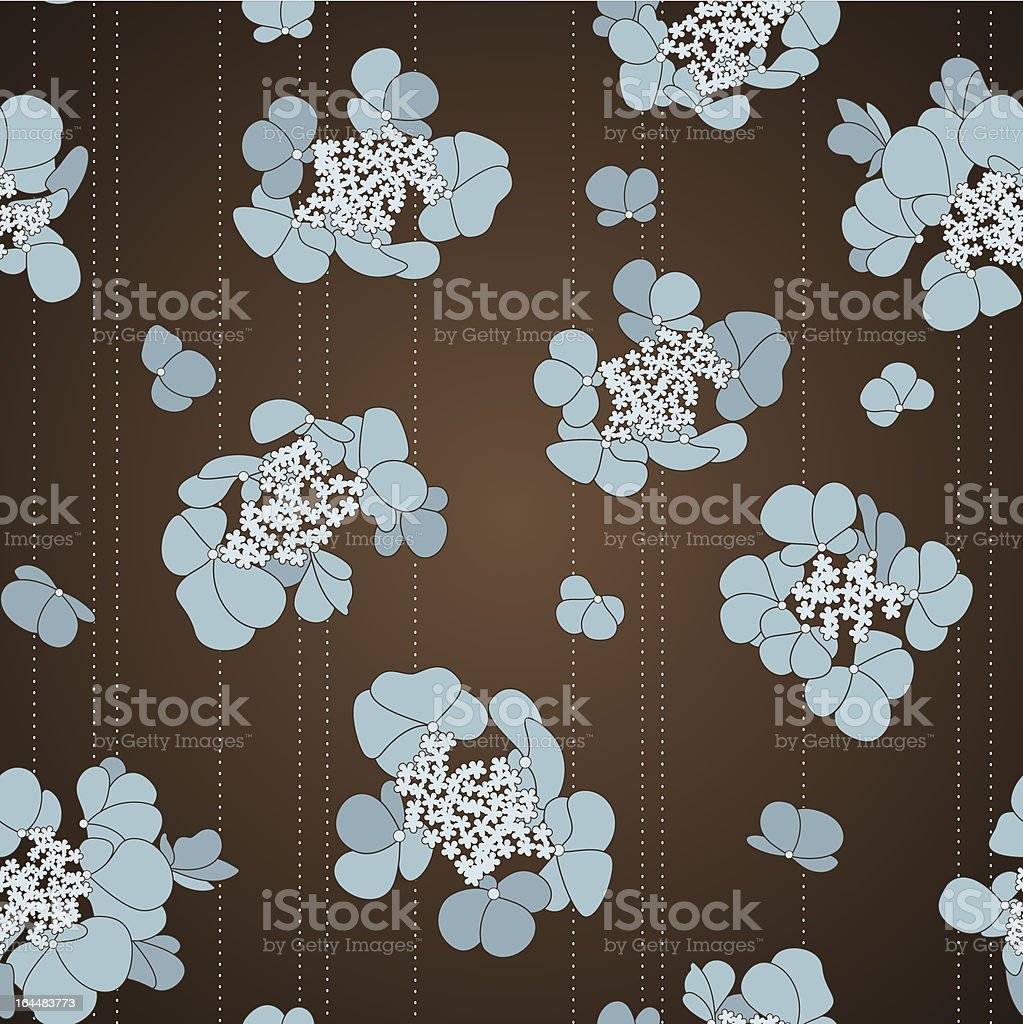 Seamless pattern with blue flowers royalty-free stock vector art