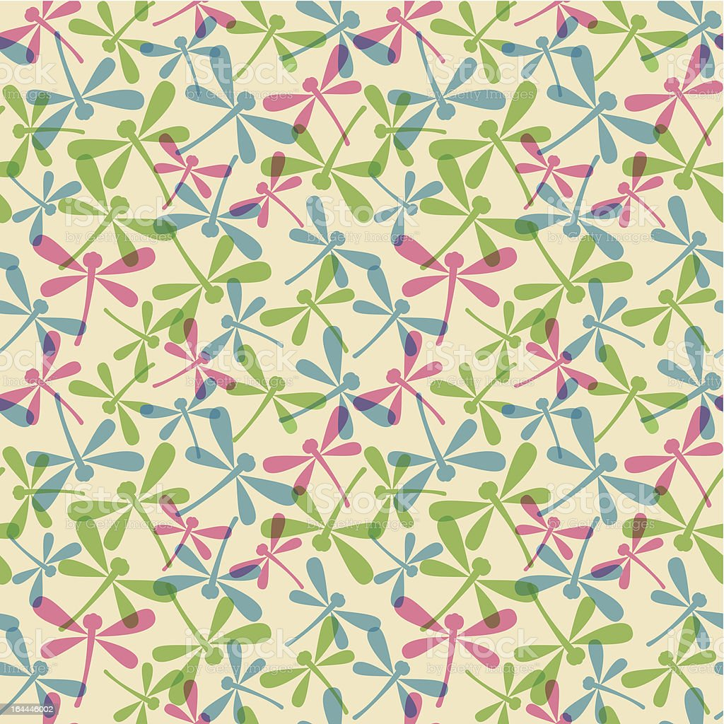 Seamless pattern with dragonflies royalty-free stock vector art