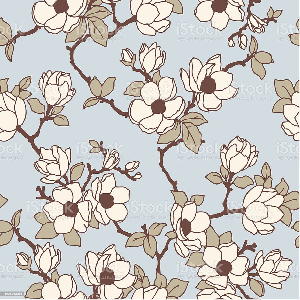 Seamless pattern with flowers apple tree royalty-free stock vector art