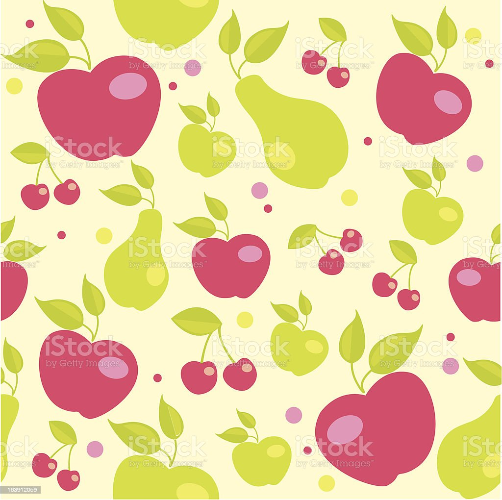 seamless pattern with fruits royalty-free stock vector art