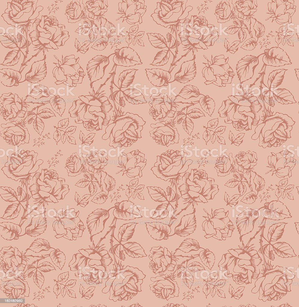 Seamless Pattern with Rose royalty-free stock vector art