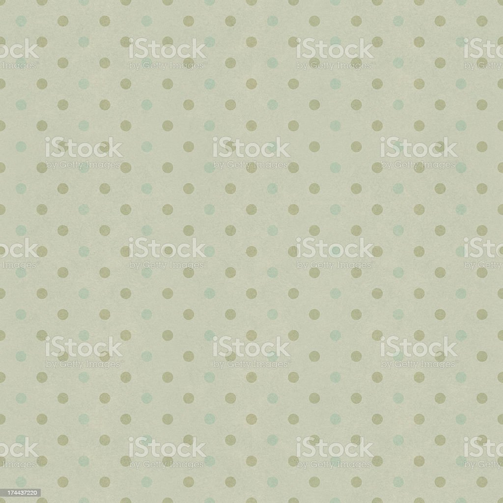 Seamless polka dots pattern on vintage paper texture royalty-free stock vector art