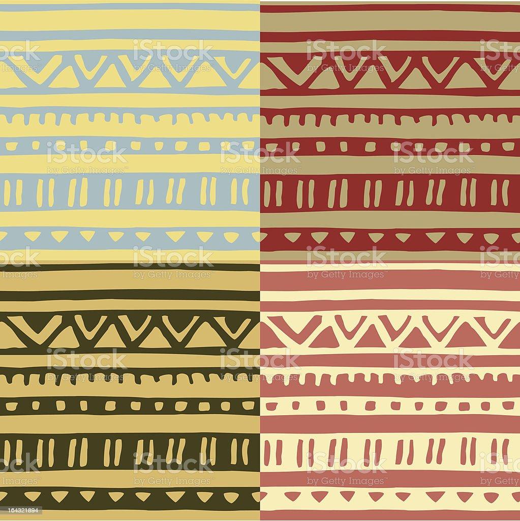 Seamless primitive ethnic pattern royalty-free stock vector art