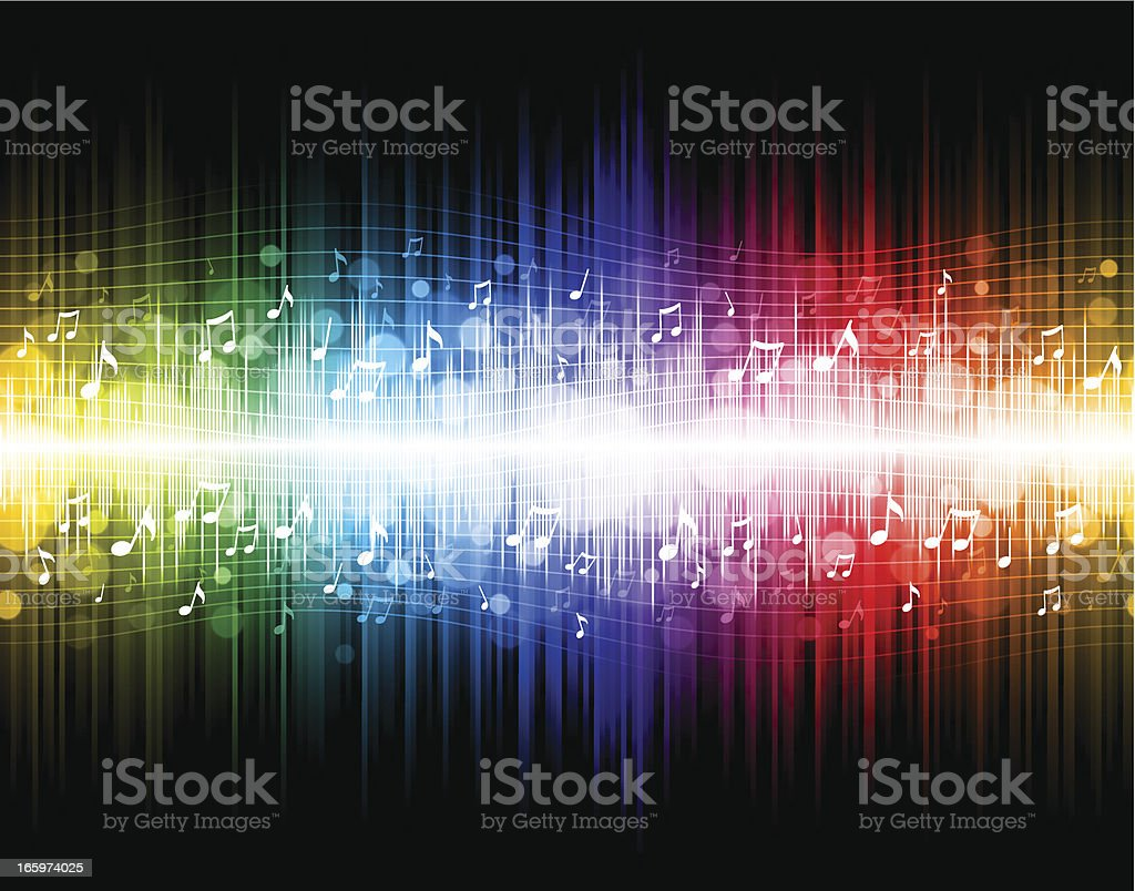 Seamless rainbow music background royalty-free stock vector art