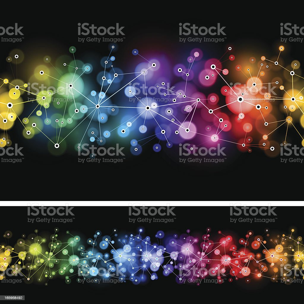 Seamless rainbow networks vector art illustration