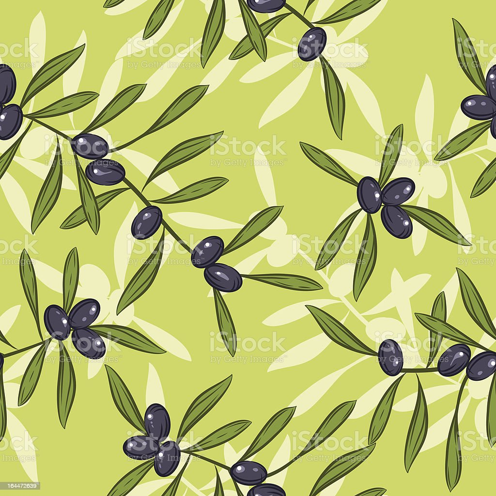 Seamless realistic olive oil background. Illustration vector. royalty-free stock vector art