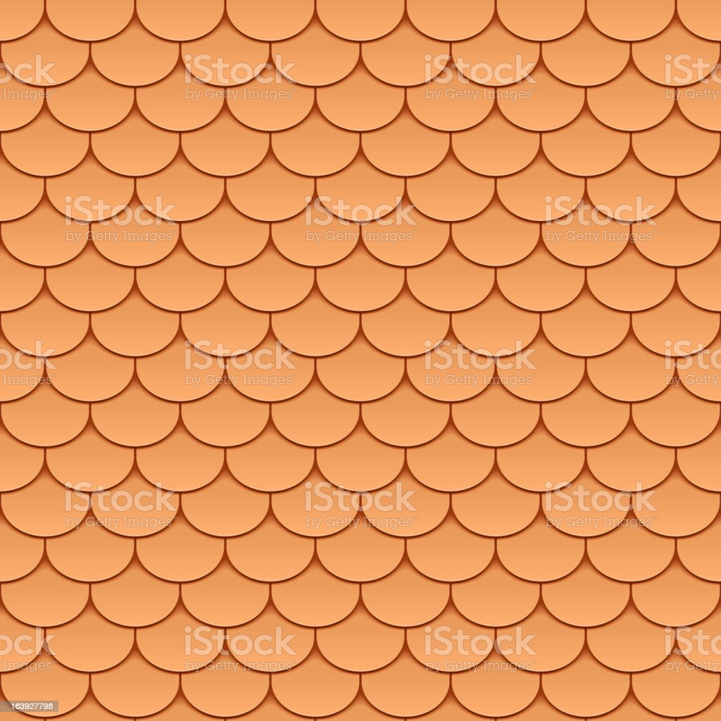 Seamless roof tiles royalty-free stock vector art
