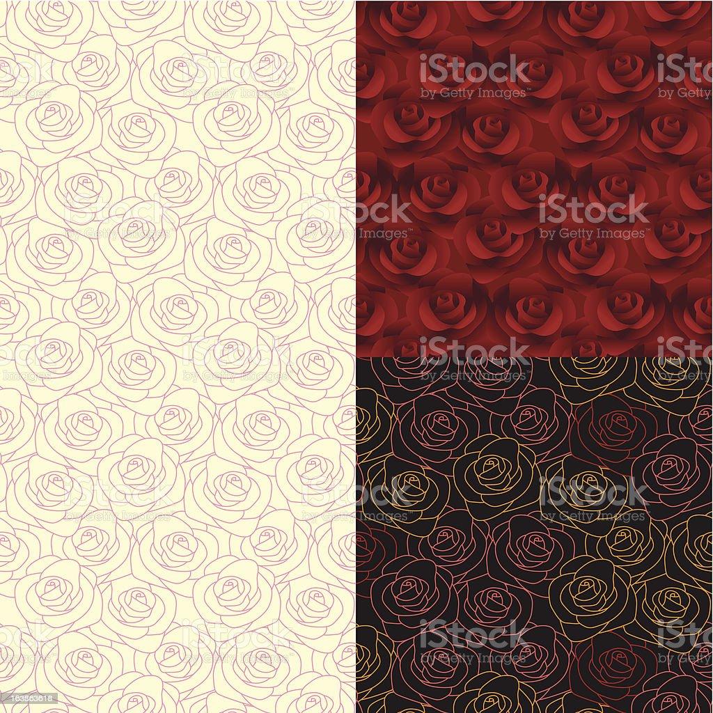 Seamless Pattern di rosa illustrazione royalty-free