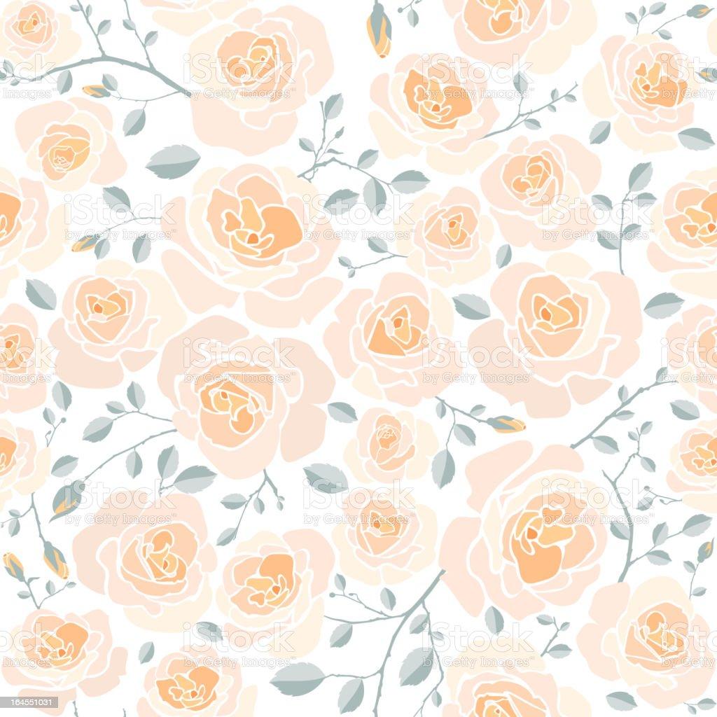 Seamless Rose Pattern royalty-free stock vector art