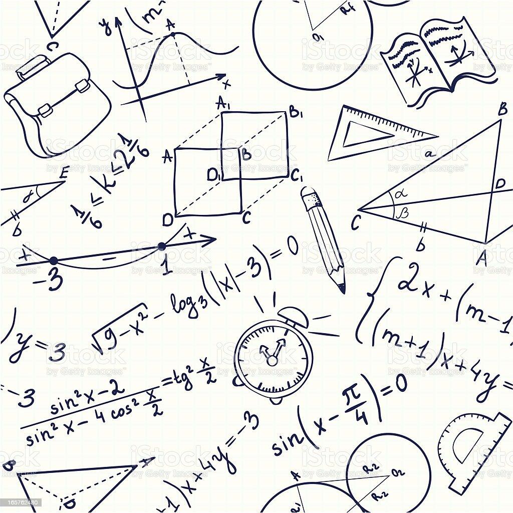 Seamless school pattern vector art illustration